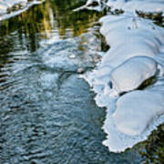 Winter River Reflections - Yellowstone Poster