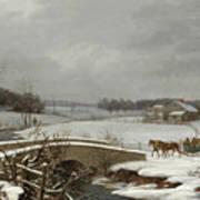 Winter Scene In Pennsylvania Poster