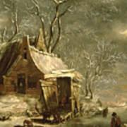 Winter Scene Poster by Jan Beerstraten