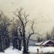 Winter Scene Poster by Nils Hans Christiansen