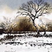 Winter Scene Stainland Poster