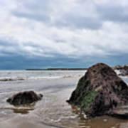 Winter Seascape - Lyme Regis Poster