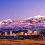 Winter Skyline Of Reno Nevada Poster