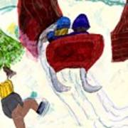 Winter Sleigh Ride Through The Tunnel Poster