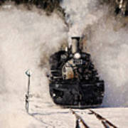 Winter Steam At Rockwood Colorado Poster