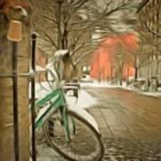 Winter Stockholm  Swiss  Poster