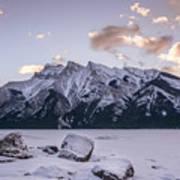 Winter Sunrise Lake Minnewanka Poster