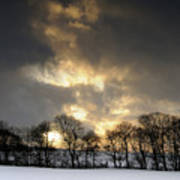 Winter Sunset, Trough Of Bowland, England Poster