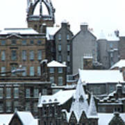 Winter Townscape Scotland Poster