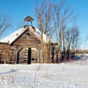 Winter Wisconsin Barn Poster