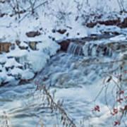 Winter Wonderland Of Minnehaha Falls  Poster