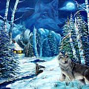 Winters Night 2 Poster by Darlene Green