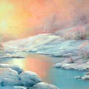 Winter's Sunset Poster