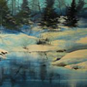 Winterscape Poster by Robert Carver