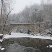 Wintertime In The Wissahickon Valley Poster