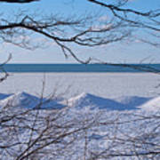Wintry Lakeshore Poster