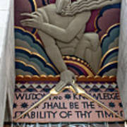 Wisdom Lords Over Rockefeller Center Poster