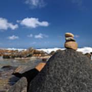 Wishing Rocks Aruba Poster by Amy Cicconi