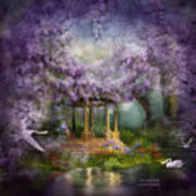 Wisteria Lake Poster by Carol Cavalaris