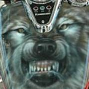 Wolf Motorcycle Gas Tank Poster