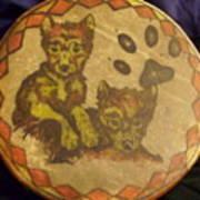 Wolf Pup Drum Poster