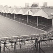 Wolverhampton - Molineux - Molineux Street Stand 1- Bw - Leitch - September 1968 Poster