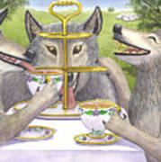 Wolves Tea Party Poster