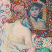 Woman At The Mirror  Poster
