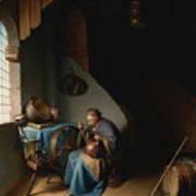 Woman Eating Porridge Poster