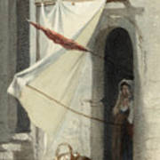 Woman In A Doorway. Rome Poster