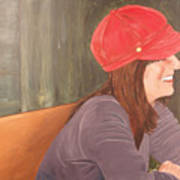 Woman In A Red Cap Poster