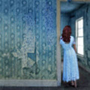 Woman In Abandoned House Poster by Jill Battaglia