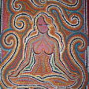 Woman In Meditative Bliss Poster