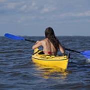 Woman Kayaking Poster