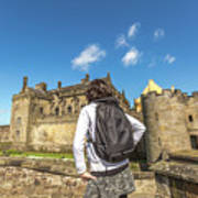Woman Looks The Stirling Castle Poster
