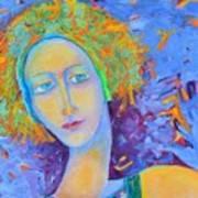 Woman Oil Portrait  Poster