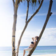 Woman On Holiday Poster