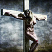 Woman On The Cross I Poster