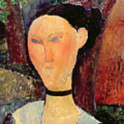 Woman With A Velvet Neckband Poster by Amedeo Modigliani