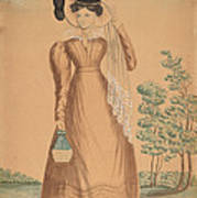 Woman With Plumed Hat Poster