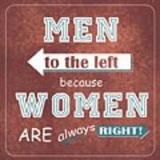 Women Are Always Right Poster
