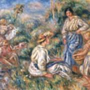 Women In A Landscape Poster