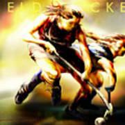 Women In Sports - Field Hockey Poster by Mike Massengale