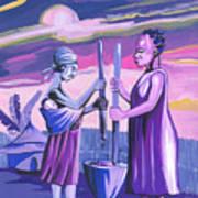 Women Pounding Cassava Poster