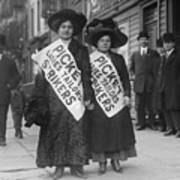 Women Strike Pickets From Ladies Poster by Everett