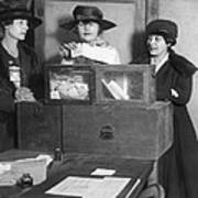 Women Voting In New York City Poster