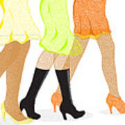 Womens Leg Dots Poster