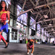 Wonder Girl And Super Pup Poster