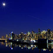 Wonderful Autumn Night In Port Vancouver Poster