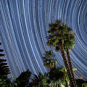 Wonky Star Trails Poster